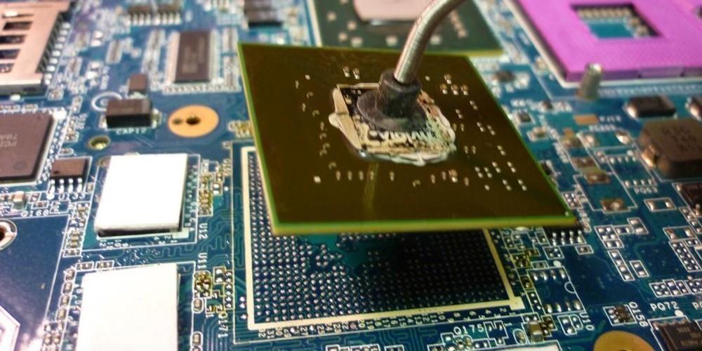 Замена чипа видеокарты ноутбука в Киеве